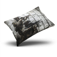 UNFRIY Home Decoration Throw Pillow Covers Army Rifle Machine Boudoir Sofa Cushion Cover Pillowcase 12x18 Inch One Sided Printed (1-Pack)