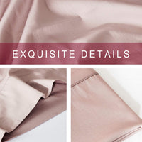 "COUCOU HOME Bedding Soft Satin Pillowcase, Envelop Closure Pillow Case Set of 2 (Pink, King,20""x 40"")"