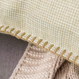 MIULEE Pack of 2 Decorative Throw Pillow Covers Farmhouse Modern Trimmed Cord Linen Burlap Cushion Cases Vintage Decor Pillowcases for Couch Sofa Bedroom 20 x 20 Inch Black
