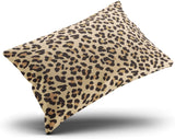 SOSHU Throw Pillow Covers Leopard Skin Cushion Cases for Sofa Home Decorative Pillowcases Boudoir Size 12x16 Inches Printed One Side