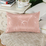 CaliTime Pack of 2 Cushion Covers Throw Pillow Cases Shells for Couch Sofa Home Decor Modern Shining & Dull Contrast Circles Rings Geometric 18 X 18 Inches Dusty Pink