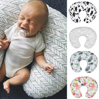 Newborn Baby Feeding Nursing Pillowcase Infant U-shaped Pillowslip Maternity Waist Cushion Cover Infant Bedding Pillow Cases