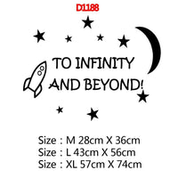 to infinity and beyond quotes moon stars babys decor Removable Decor Wall Decals
