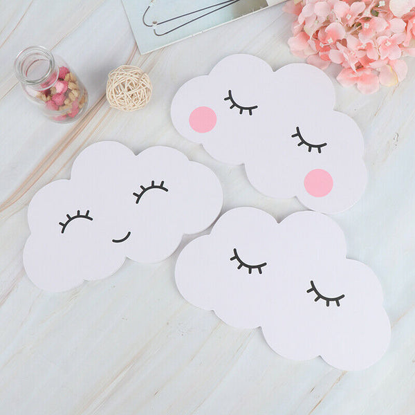 Nordic Wooden 3D Cloud Ornaments Wall Sticker Baby Room Decor Nursery Decor uo