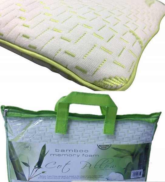 *NEW*Bamboo Memory Foam Cot Bed Pillow Baby Toddler Bedding Kids Junior Sleeping