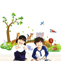 cute Cartoon Animals Removable Wall Decal Sticker Kids Baby Room Decor