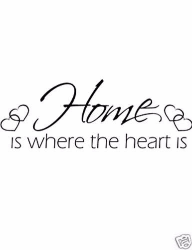 Home is where the heart Vinyl Wall Home Decor Decal Quote Inspirational Adorable