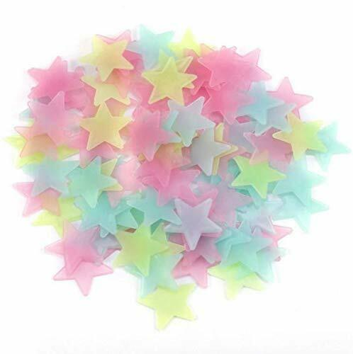 100Pcs Star Wall Stickers Baby Room Bedroom Decals Art Plastic Decoration