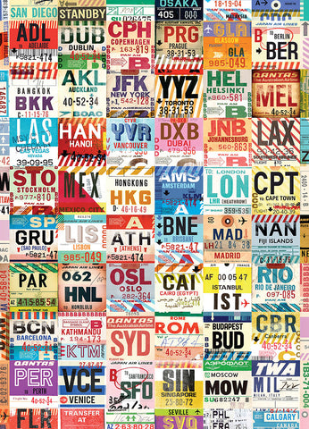 Vintage Luggage Tags (Around the World)