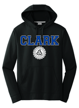 Load image into Gallery viewer, Clark Montessori Black Performance Hoodie