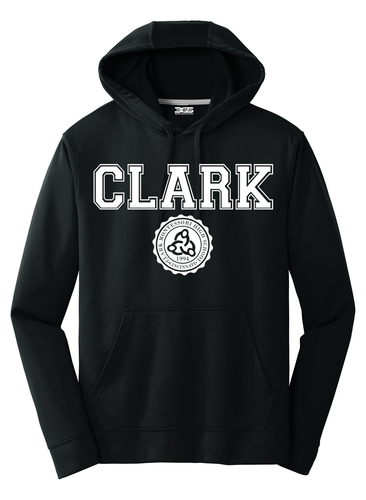 Clark Montessori Black Performance Hoodie