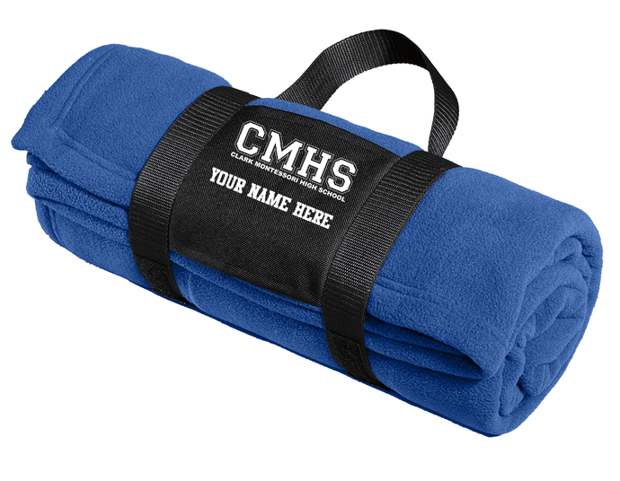 Clark Montessori Fleece Blanket with Carrying Strap
