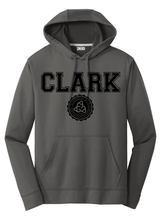 Load image into Gallery viewer, Clark Montessori Charcoal Grey Performance Hoodie