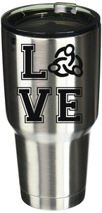 Love Clark Montessori Stainless Steel Tumbler | Black Logo