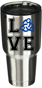 Love Clark Montessori Stainless Steel Tumbler | Royal and Black Logo