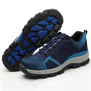 THE ULTIMATE STEEL SAFETY PROTECTION ANTI-SLIP TRAVEL TRAINERS
