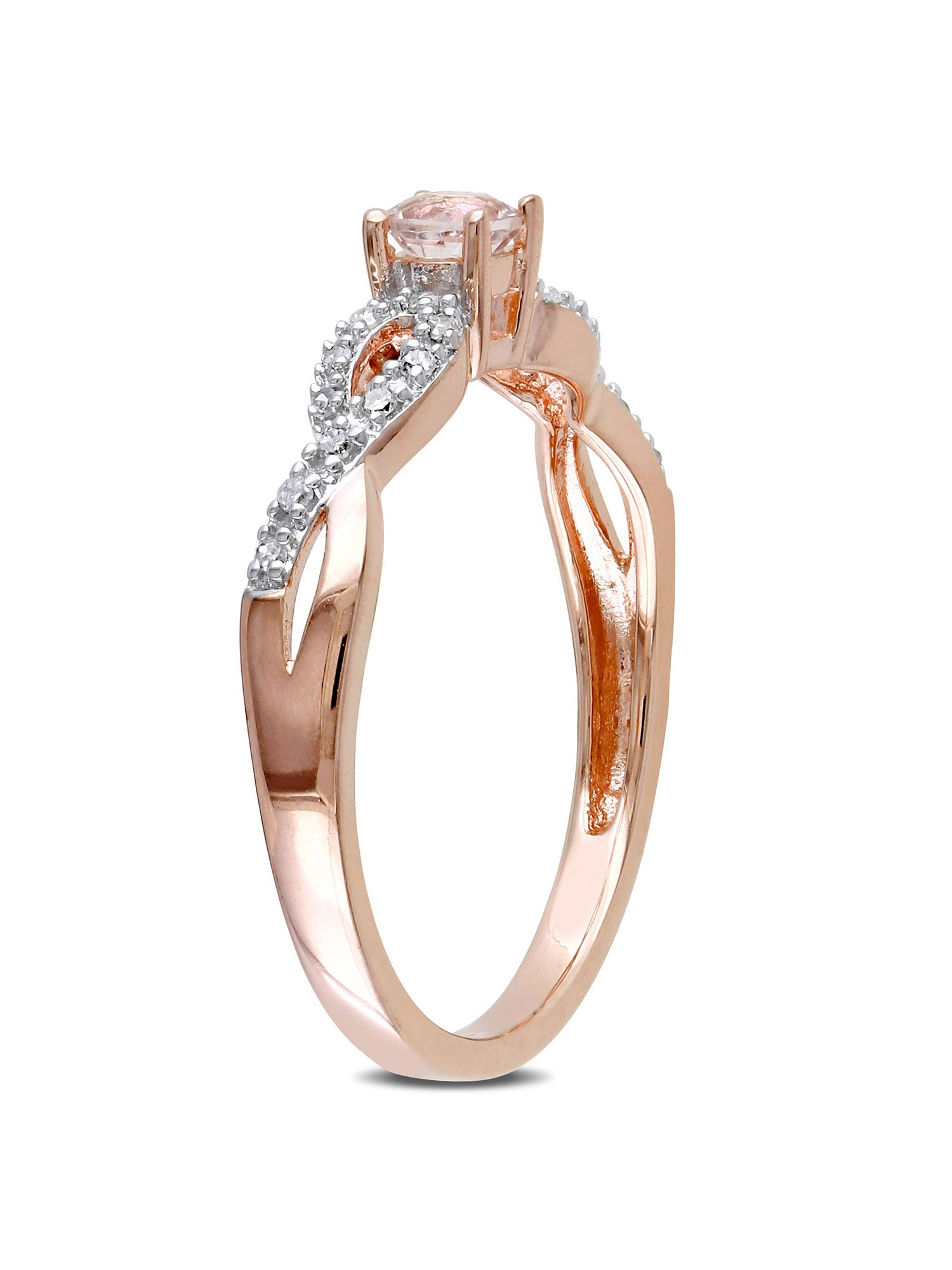 1/6 CARAT MORGANITE AND DIAMOND ROSE-PLATED STERLING SILVER RING picktookshop.myshopify.com [gogle] [sale] [online]