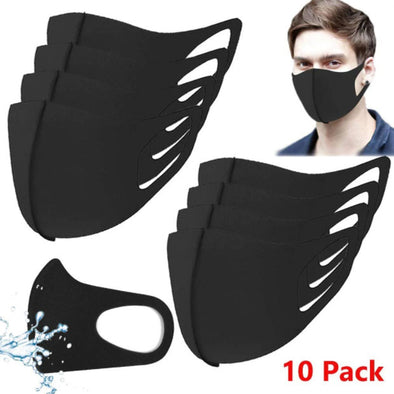 10 Packs Reusable Unisex Face Masks