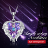 Fashion Women 925 Sterling Silver Necklace with Purple Crystal picktookshop.myshopify.com [sale] [online]