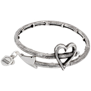 CUPID'S ARROW WRAP  SILVER BANGLE BRACELET picktookshop.myshopify.com [gogle] [sale] [online]