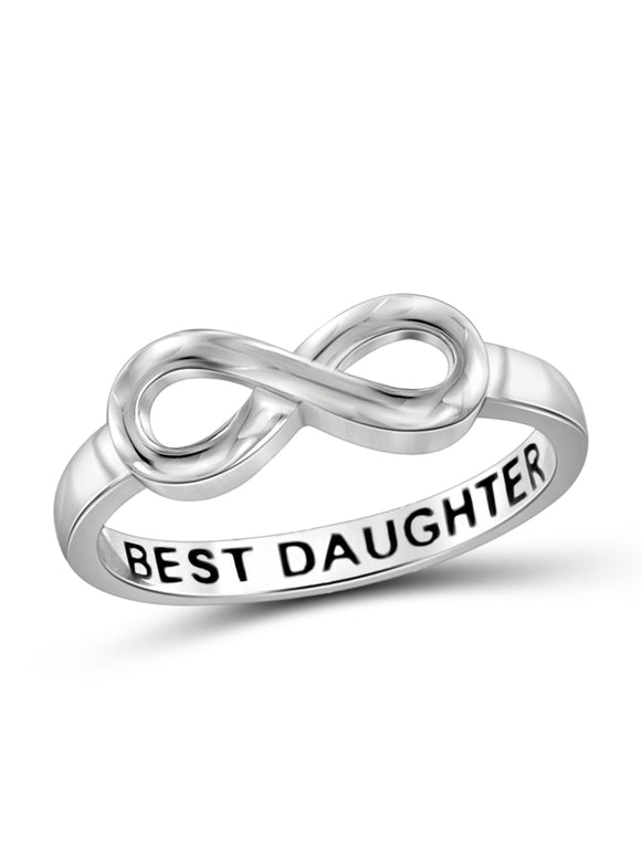 BEST DAUGHTER STERLING SILVER INFINITY LOOP MESSAGE RING picktookshop.myshopify.com [gogle] [sale] [online]