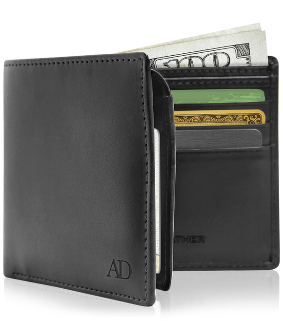 Faux Leather Vegan Wallets For Men - Bifold Mens Wallet With ID Window RFID Blocking picktookshop.myshopify.com [sale] [online]
