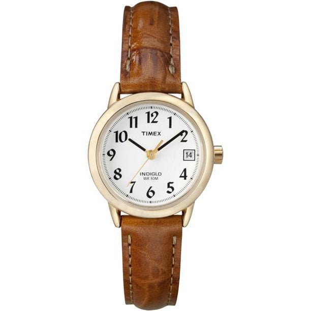 Women's Easy Reader  Brown Leather Analog Quartz Dress Watch picktookshop.myshopify.com [sale] [online]