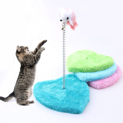 CAT SCRATCH POLE SPIRAL SWAY PLAY ACTIVITY TEASER TOY POST MOUSE picktookshop.myshopify.com [sale] [online]