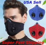 Reusable Unisex Mask with Activated Carbon Filter
