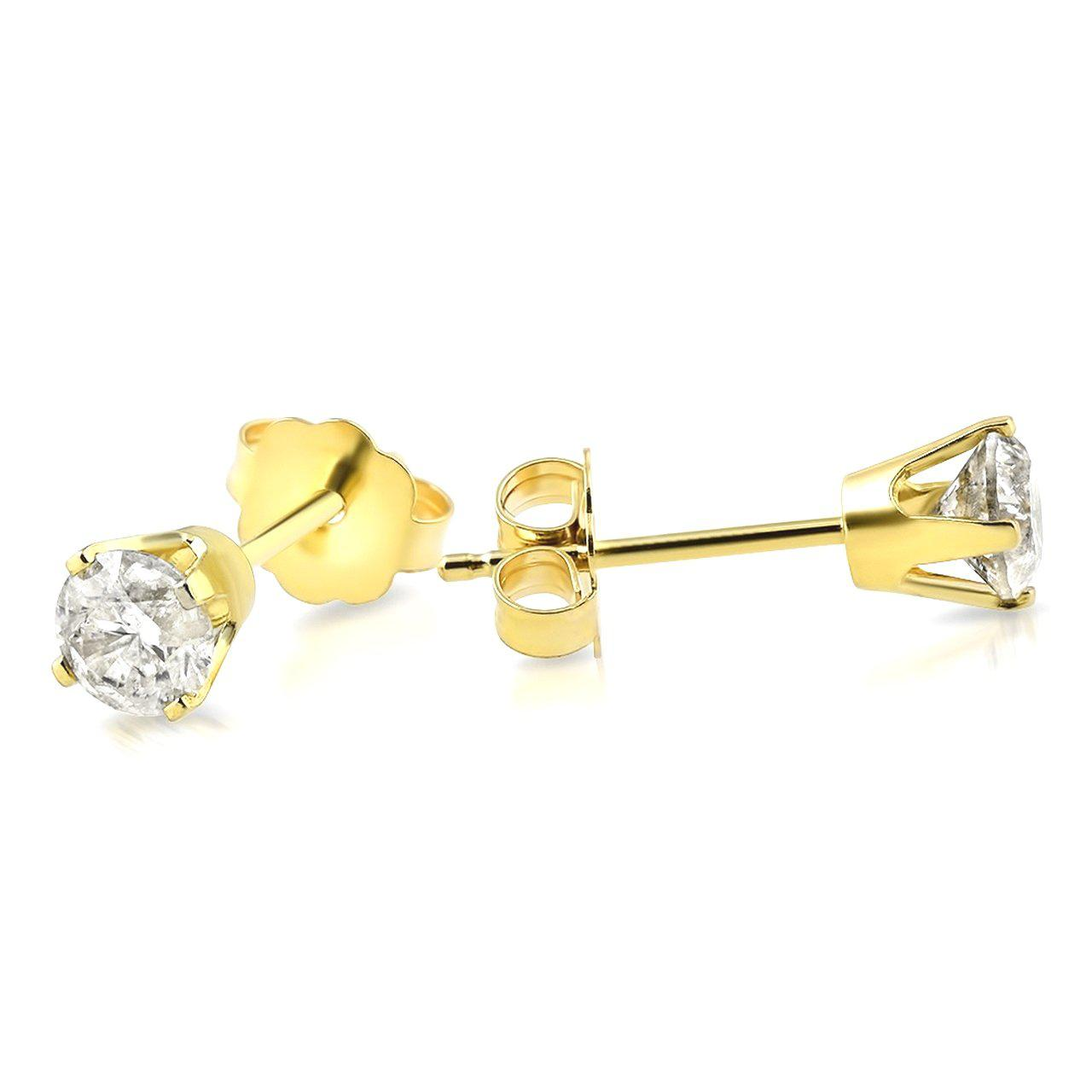 0.25 CARAT GENUINE DIAMOND STUD EARRINGS picktookshop.myshopify.com [sale] [online]