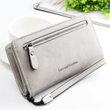 WOMEN PU LEATHER ZIPPER LONG PURSE CARD HOLDER WALLET PHONE BAG picktookshop.myshopify.com [gogle] [sale] [online]