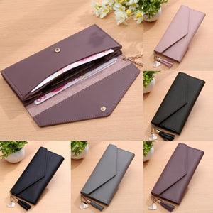 WOMEN LADY CLUTCH LONG PURSE LEATHER  CHECKBOOK WALLET  HANDBAG PHONE BAG picktookshop.myshopify.com [gogle] [sale] [online]