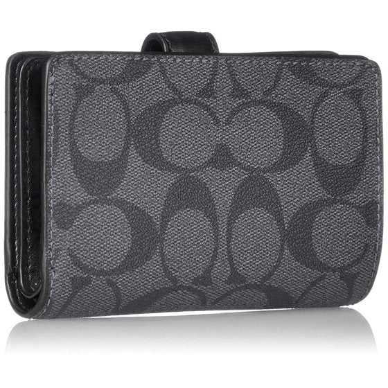 WALLET MEDIUM CORNER ZIP SIGNATURE PVC BLACK & SMOKE WALLET picktookshop.myshopify.com [gogle] [sale] [online]