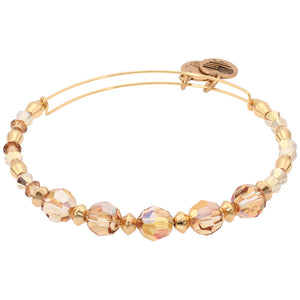 CRYSTAL BEADED, GLOW II BANGLE BRACELET- SHINY GOLD picktookshop.myshopify.com [gogle] [sale] [online]
