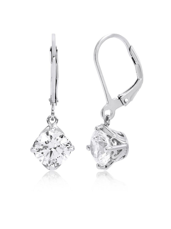 CUBIC  DANGLE EARRINGS MADE WITH ZIRCONIA