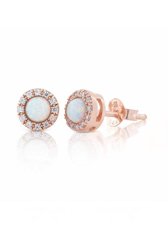 CUBIC ZIRCONIA GEMSTONE STUD EARRINGS