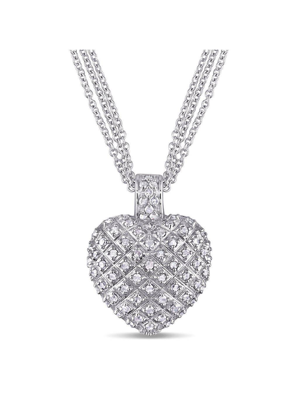 1 Carat T.W. Diamond Sterling Silver Heart Pendant Necklace picktookshop.myshopify.com [gogle] [sale] [online]