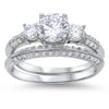 ENGAGEMENT SET CLEAR CZ NEW .925 STERLING SILVER BAND RINGS picktookshop.myshopify.com [gogle] [sale] [online]