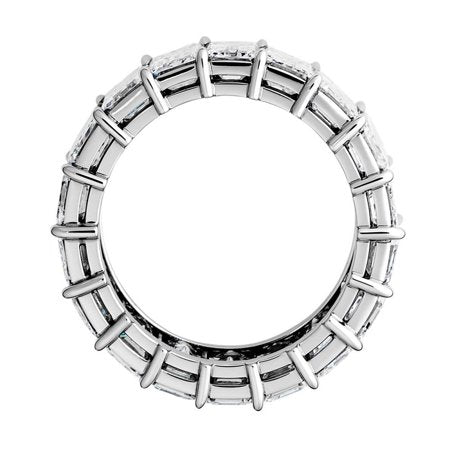 EMERALD CUT CUBIC ZIRCONIA 18K WHITE GOLD ETERNITY RING picktookshop.myshopify.com [gogle] [sale] [online]