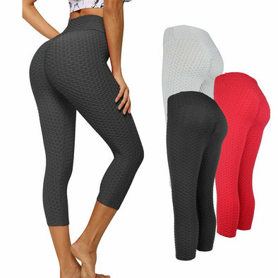 Fashion High Waist Fitness Leggings Women Workout Push Up Trousers Solid Pants picktookshop.myshopify.com [sale] [online]