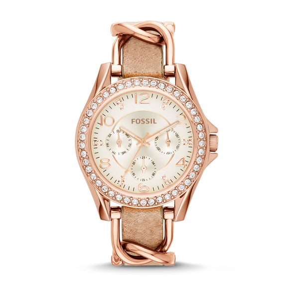 Fossil Women's Riley Leather Watch