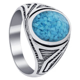 GEM AVENUE MEN'S 925 STERLING SILVER TURQUOISE ANTIQUE DESIGN RING picktookshop.myshopify.com [gogle] [sale] [online]