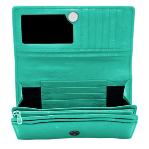 Genuine Leather Accordion Clutch Wallets For Women - Organizer picktookshop.myshopify.com [sale] [online]