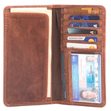 Leather Long Bifold Wallet for Men | Perfect Checkbook Cover | Tall Cowboy Wallet (Hunter Brown) picktookshop.myshopify.com [sale] [online]