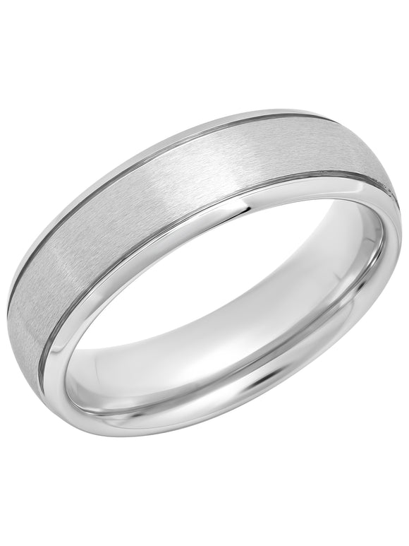 MEN'S TUNGSTEN 6MM GROOVED SATIN WEDDING BAND picktookshop.myshopify.com [gogle] [sale] [online]