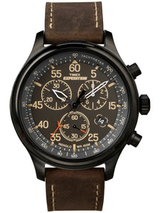 Men's Expedition Field Chronograph Brown/Black Leather Strap Watches picktookshop.myshopify.com [sale] [online]