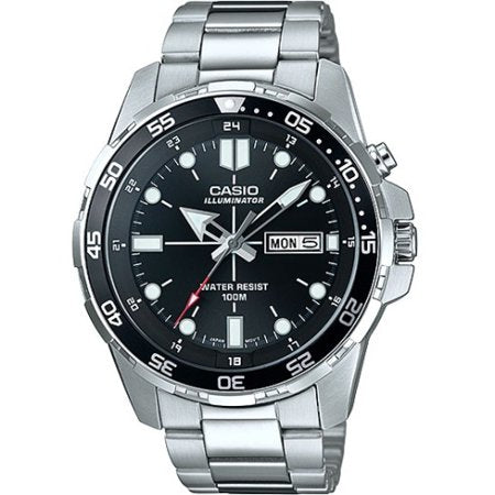 Men's Dive Style Watch, Stainless Steel Bracelet