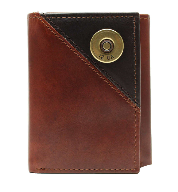 MEN'S GEORGE TAN BILLFOLD SHOTGUN SHELL WALLET picktookshop.myshopify.com [gogle] [sale] [online]