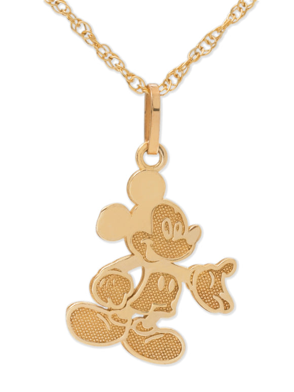 Mickey Mouse Pendant Necklace with Gold-Filled Chain