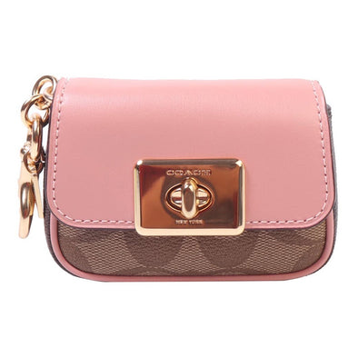 MINI CASSIDY COIN CASE WALLET KEY SIGNATURE CANVAS KHAKI PINK picktookshop.myshopify.com [gogle] [sale] [online]